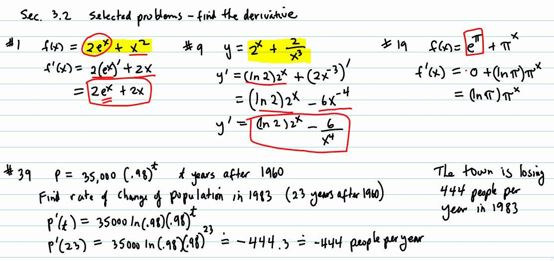 derivative problem The chain rule: first page previous page next page last page this page tsishchanka's calculus website tsishchanka's precalculus website section 25 the chain rule.