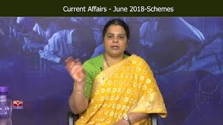 T-SAT || Current  Affairs - June 2018 - Schemes || Deepika Reddy