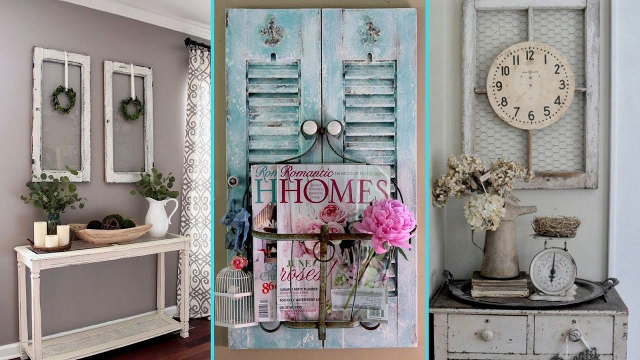 ❤ diy shabby chic style windows and shutter decor ideas❤ | re