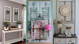 ❤ Diy Shabby Chic Style Windows And Shutter Decor Ideas❤ | Re Purpose Old Windows | Flamingo Mango|