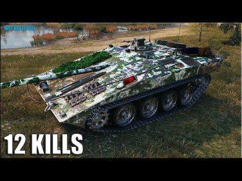 12 фрагов на СТЕРВЕ ✅ World of Tanks Strv S1 лучший бой прем ПТ-САУ