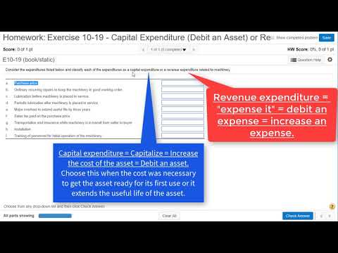 Ex10-19 Capitalizing A Cost Versus Expensing A Cost