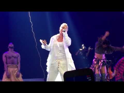 """Pink """"What About Us?"""" LIVE Beautiful Trauma Tour United Center Chicago 3-9-2018 Pink"""