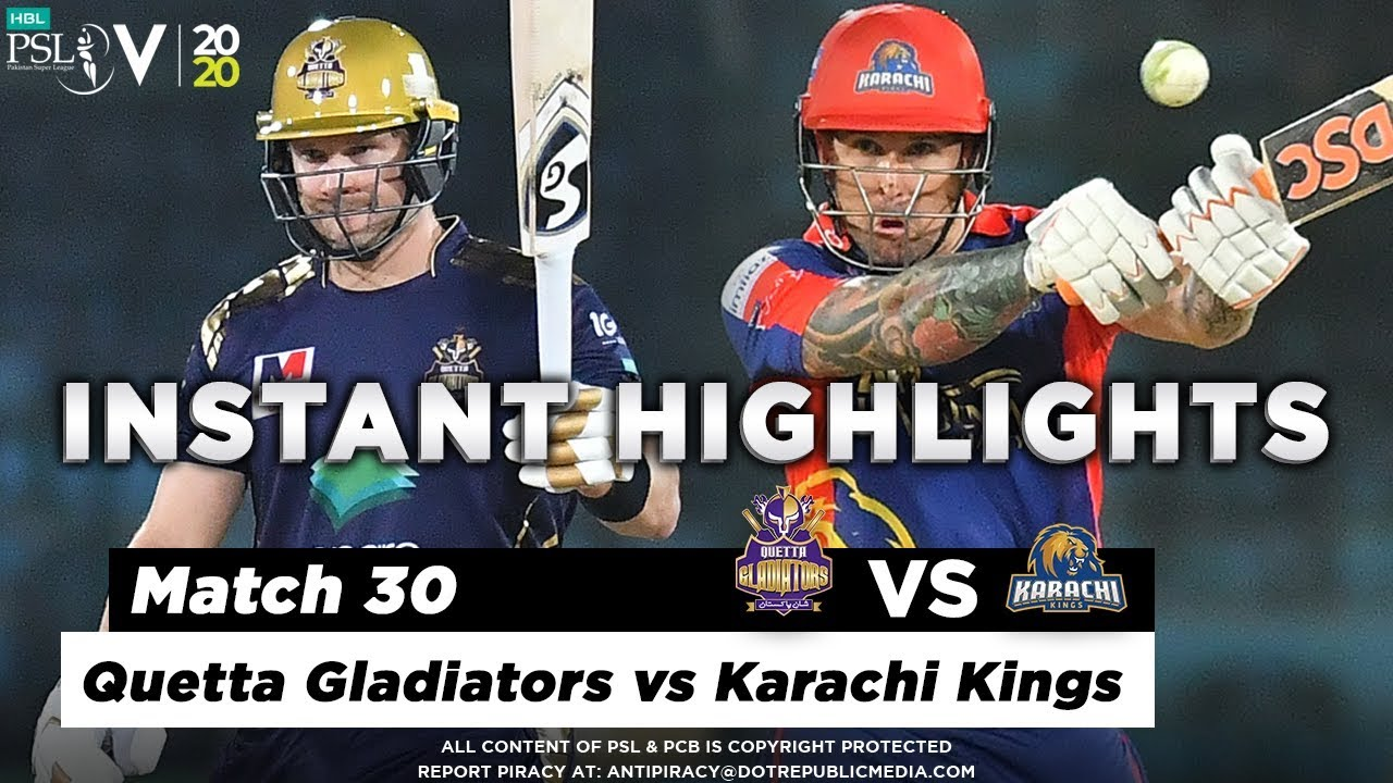 Quetta Gladiators vs Karachi Kings | Full Match Instant Highlights | Match 30 | 15 March | HBL PSL 5