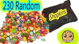 Super Large Random Surprise Lot of 230 Shopkins Season 2, 3, 4, 5 Mystery Package