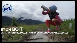 Gourde avec filtre purifier eau camping expeditions trekking survie video francais