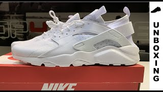 "NIKE AIR HUARACHE RUN ULTRA ""TRIPLE WHITE"""