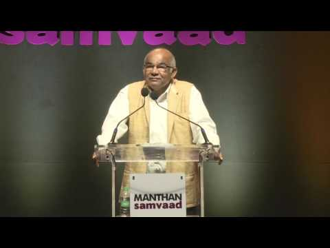 Dr Y V Reddy @ Manthan Samvaad 2016 on 'Centre State Relations'