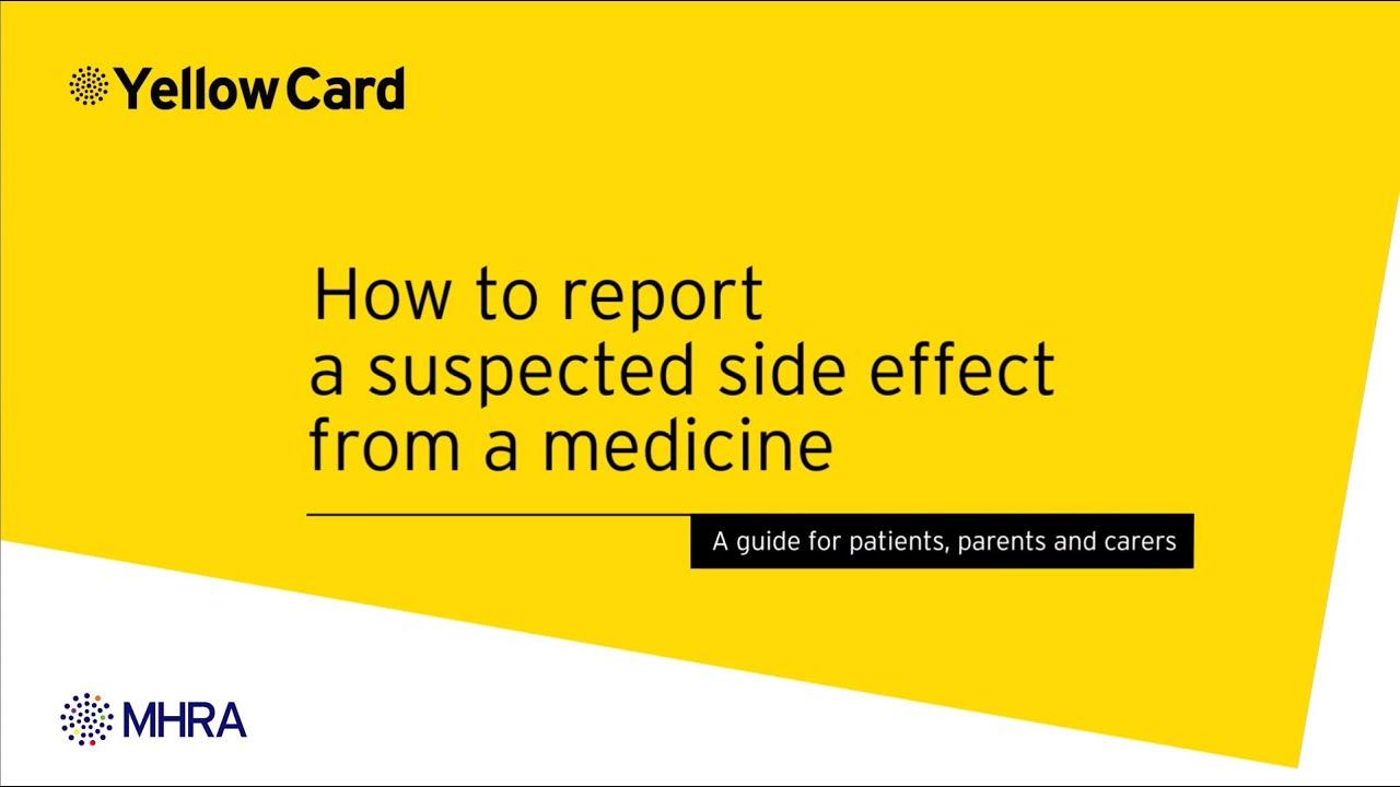 Yellow Card Scheme - MHRA