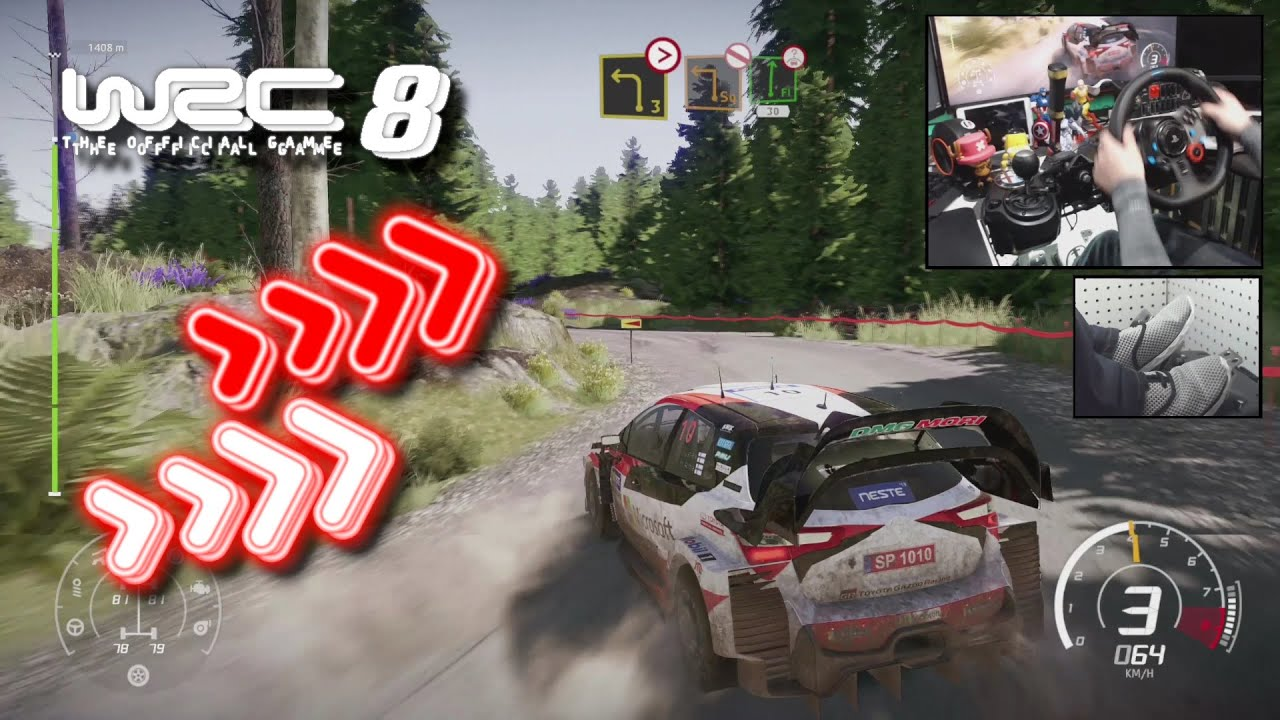 Download WRC 8 Toyota Yaris WRC Finland Horkka / Logitech G29