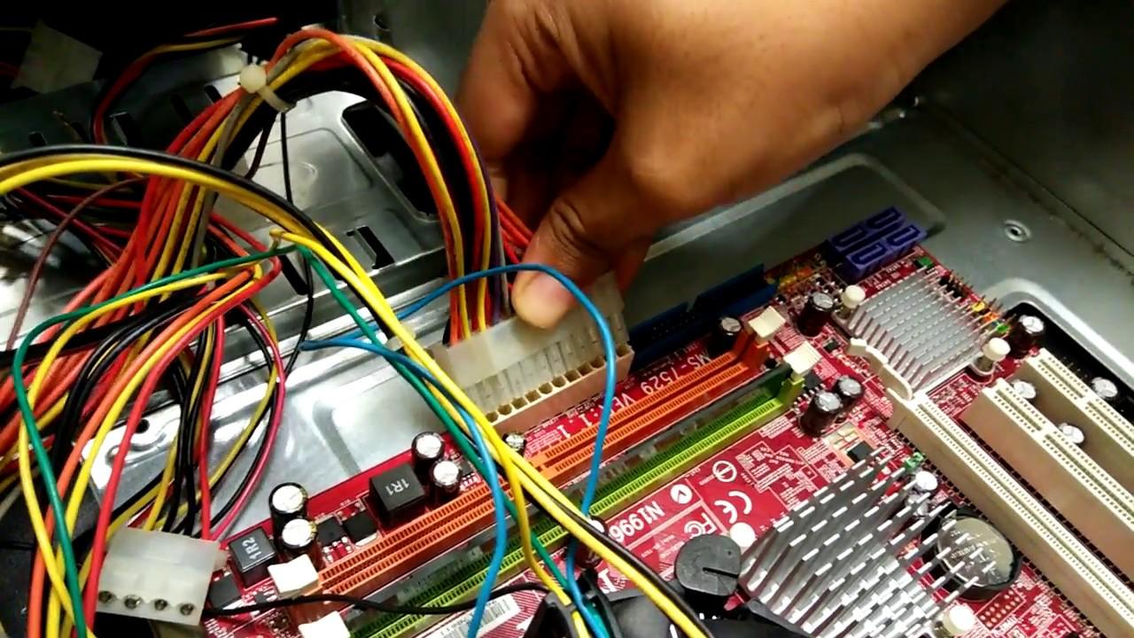 Cara Memasang Power Supply Ke Dalam Motherboard Youtube Kabel Komputer
