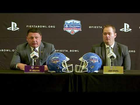 LSU's Ed Orgeron FULL Fiesta Bowl joint presser w/ UCF coach Josh Heupel