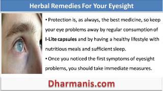 What To Do If Your Eyesight Is Getting Worse, Herbal Remedies