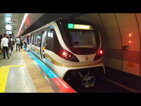 Trains For Kids: Underground Train - Istanbul Metro - Şişli