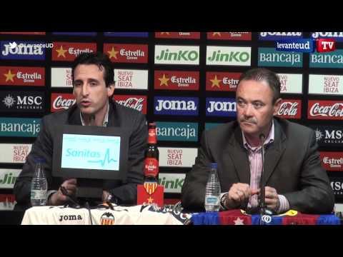 Rueda de prensa conjunta de Juan Ignacio Martínez y Unai Emery previa al derbi