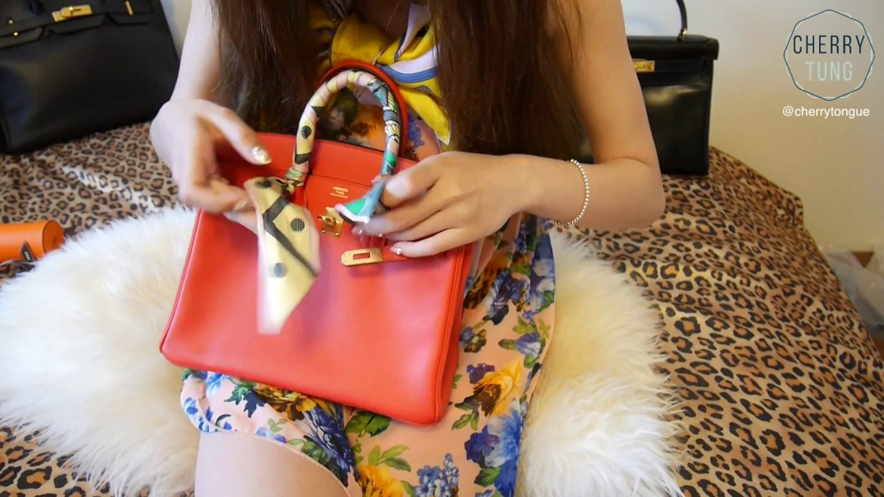c80c132c5544 TYING HERMES TWILLY ON BIRKIN FOR THE FIRST TIME | Cherry Tung - YouTube
