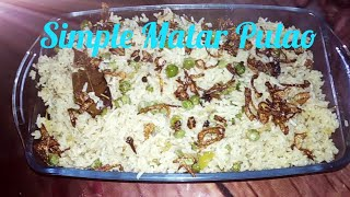 Simple  Matar  Pulao  Recipe