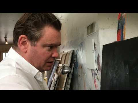Artist McLean Edwards talks about his painting techniques with Maria Stoljar