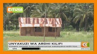 Wakazi wa Dindiri, Kaole na Makata huko Chonyi waliandamana