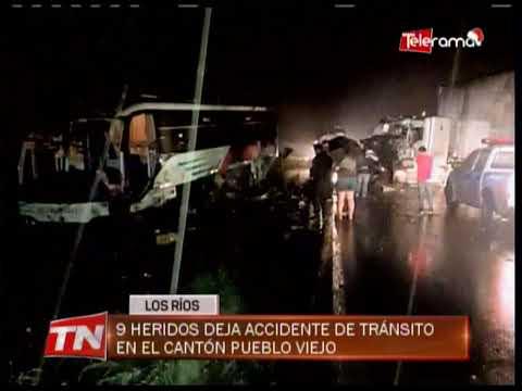 9 heridos deja accidente de tránsito en el cantón Pueblo Viejo