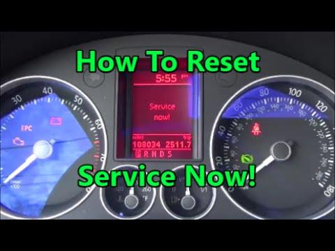 How To reset service now light Volkswagen mkv R32 GTI Jetta Golf passat - YouTube
