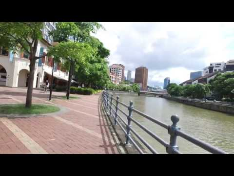 Singapore waterfront lifestyle walking tour