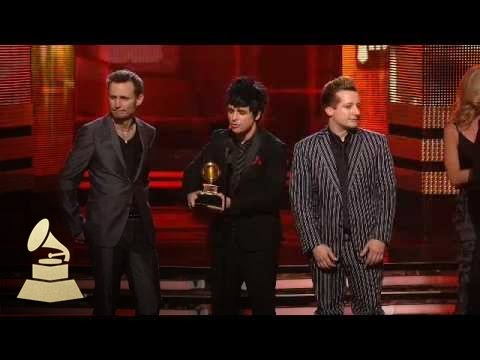 Green Day accepting the GRAMMY for Best Rock Album at the 52nd GRAMMY Awards | GRAMMYs