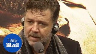 Russell Crowe talks about directing his new film - Daily Mail