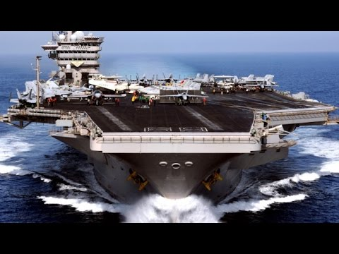 WORLDS LARGEST US Military Aircraft Carrier Ship Flight Oper