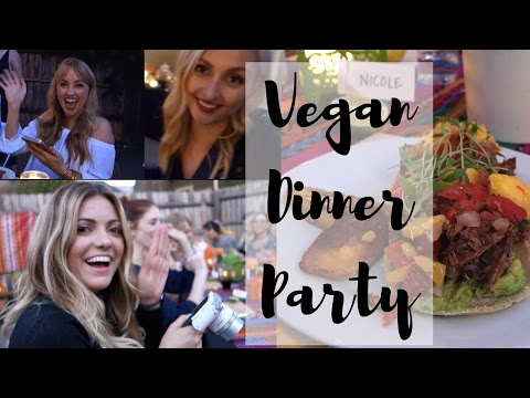 Epic Vegan Dinner Party w/ Dani Lauren | #spontaneadinner | MissVranHalen