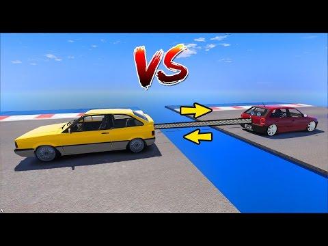GOL QUADRADO VS. GOL BOLINHA QUEM VENCE? (GTA 5)