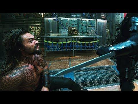 Aquaman vs Black Manta Submarine  Aquaman 4k