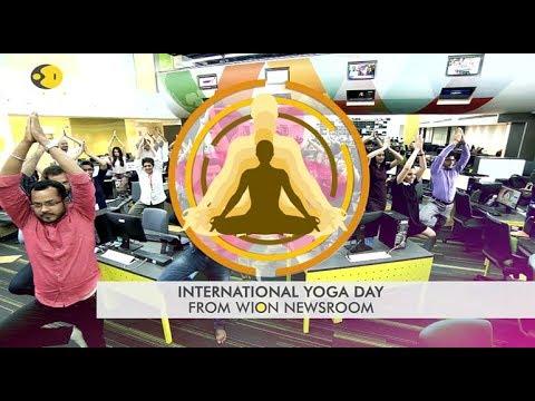 International yoga day at WION HQ