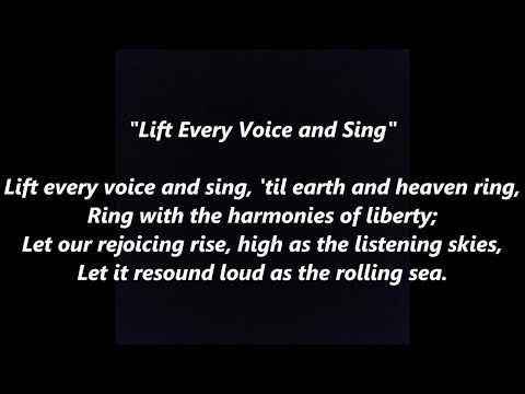 lift every voice and sing Lift every voice and sing is an uplifting spiritual, one that's often heard in churches and popularly recognized as the black national anthem timothy askew grew up with its rhythms, but now the song holds a contentious place in his mind.