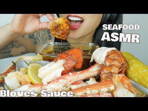 ASMR SEAFOOD BOIL With BLOVESLIFE SMACKALICIOUS SAUCE (EATING SOUNDS) NO TALKING | SAS-ASMR