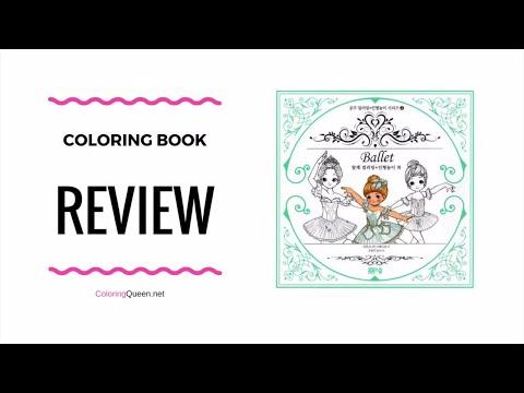 Ballet & Paper Doll Korean Coloring Book Review