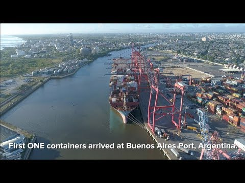 ONE - ONE containers arrived at Buenos Aires port, Argentina.