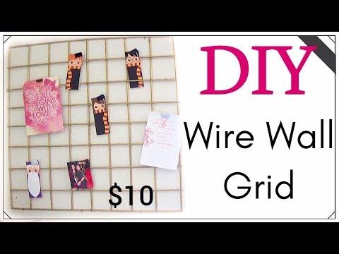 DIY Wire Wall Grid