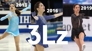 Evgenia MEDVEDEVA s TRIPLE LUTZ 3Lz Progress Over Time Евгения Медведева
