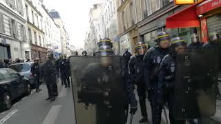 Manifestation contre la loi travail à Paris le 16 novembre 2017 vidéo 1