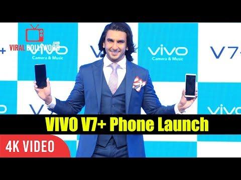 Ranveer Singh At Vivo V7+ Smart Phone Launch | V7+ Smartphone | 4K Video
