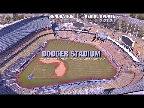 Dodgers: Centerfield Plaza Taking Shape in Dodger Stadium Renovation