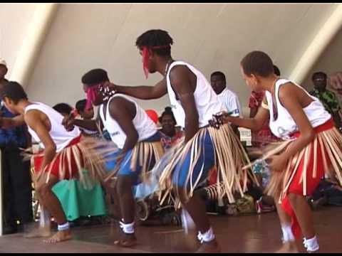 Torres Strait Islander Dancers perform in Cairns, Australia (1)