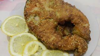 Жареный толстолоб в кунжутной панировке. Очень сочная и вкусная рыба. Быстро и просто.