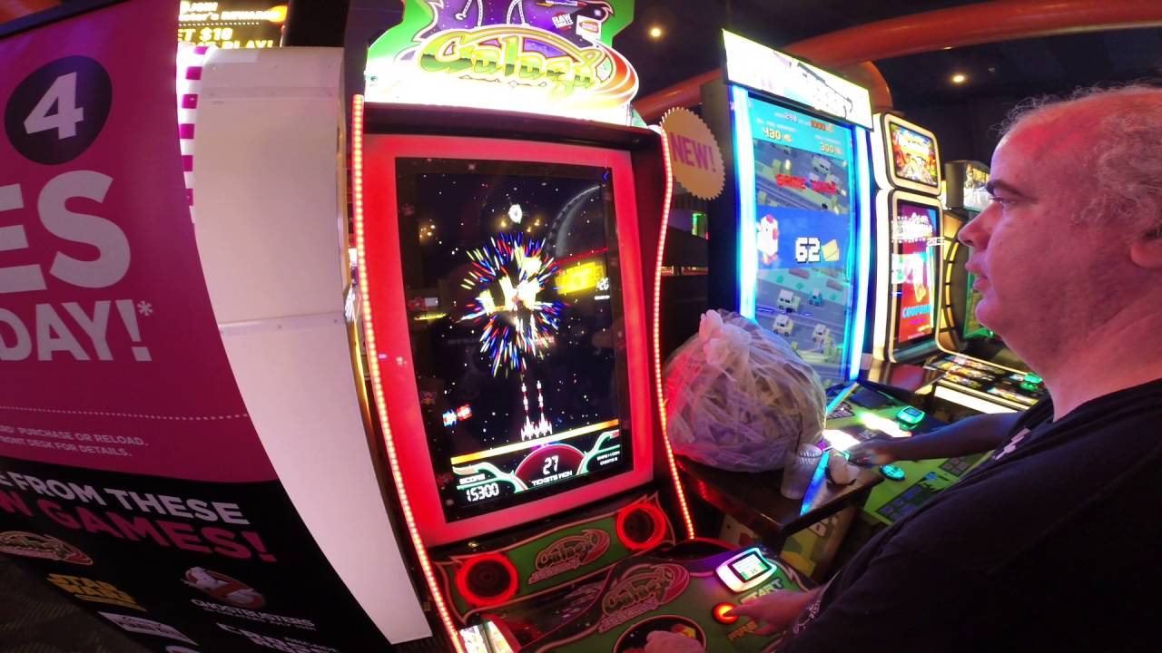 Galaga Assult Arcade Game At Dave And Buster S Hollywood