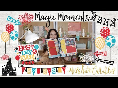Disneyland & Disney Themed Scrapbook Layout Tutorial Using Our Magic Moments Paper Pack And Die Cuts