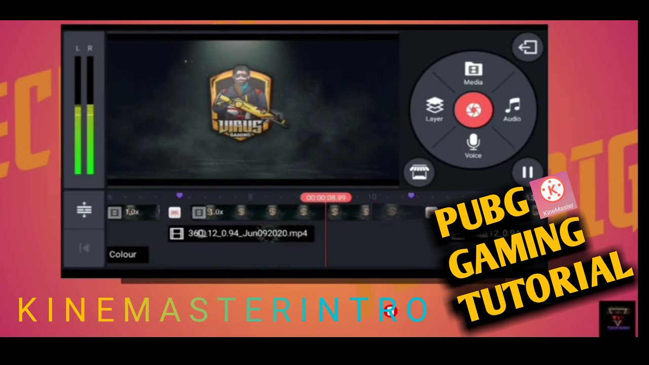 How To Make Pubg Gaming Intro In Kinemaster | Make Gaming Channel Intro In Kinemaster Tutorial Video