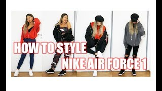 HOW TO STYLE NIKE AIR FORCE 1 - LOOKBOOK | arrestthisgal #ad #werbung