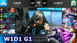 C9 vs FLY | Week 1 Day 1 S9 LCS Summer 2019 | Cloud 9 vs FlyQuest W1D1
