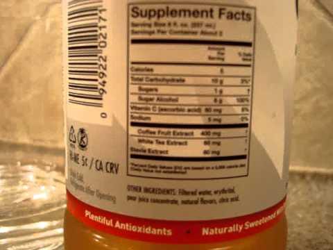 Bai5 Congo Pear - Antioxidant Infusions Energy Drink - Antioxidant-fruits.com Review